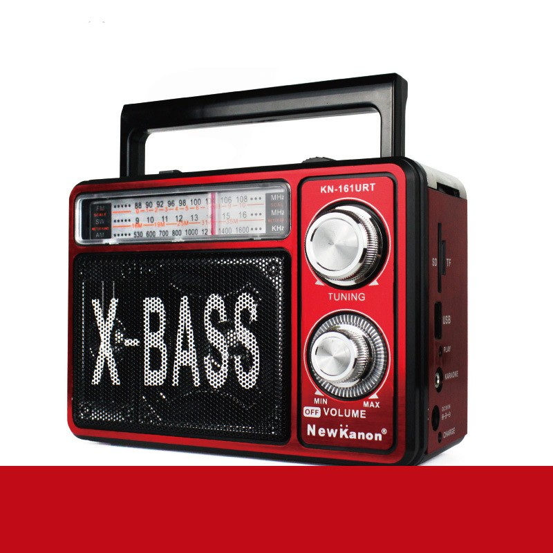 Retro Woodgrain Radio Portable FM/AM/SW Speaker Player SD/TF/USB Pointer Outdoor Sports Solar Radio with Light Walkman MP3