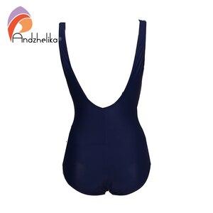 Image 4 - Andzhelika 2020 New Women Plus Size Swimsuit Print One Piece Swimwear Fold Bodysuit Bathing Suit Brazilian Summer Beach Monokini