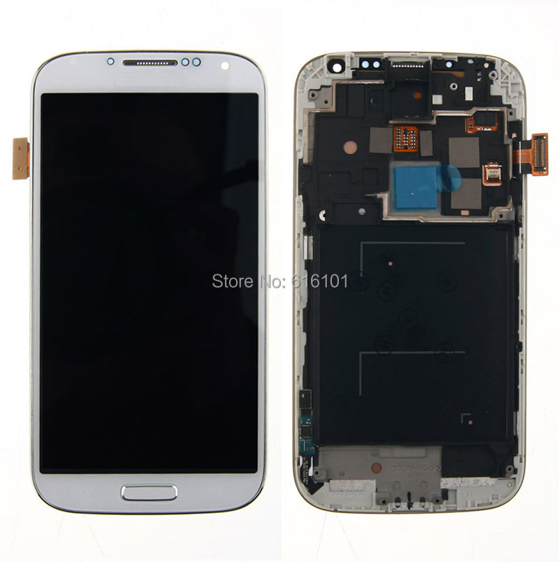 LCD Display Touch Screen Digitizer+Frame Assembly For Samsung Galaxy i9502 White Free Shipping