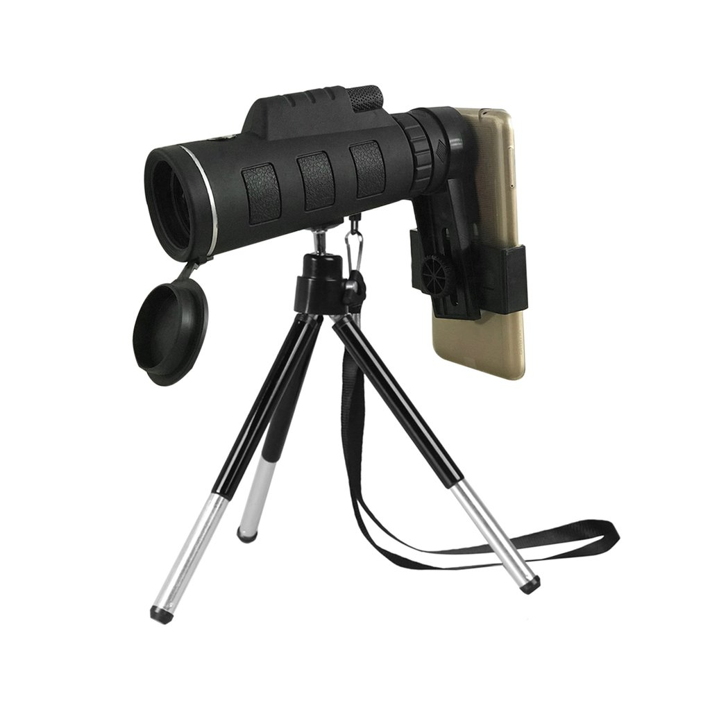40X60 Monocular telescopio visión HD noche gran angular Prism alcance con brújula teléfono Clip trípode portátil al aire libre telescopio