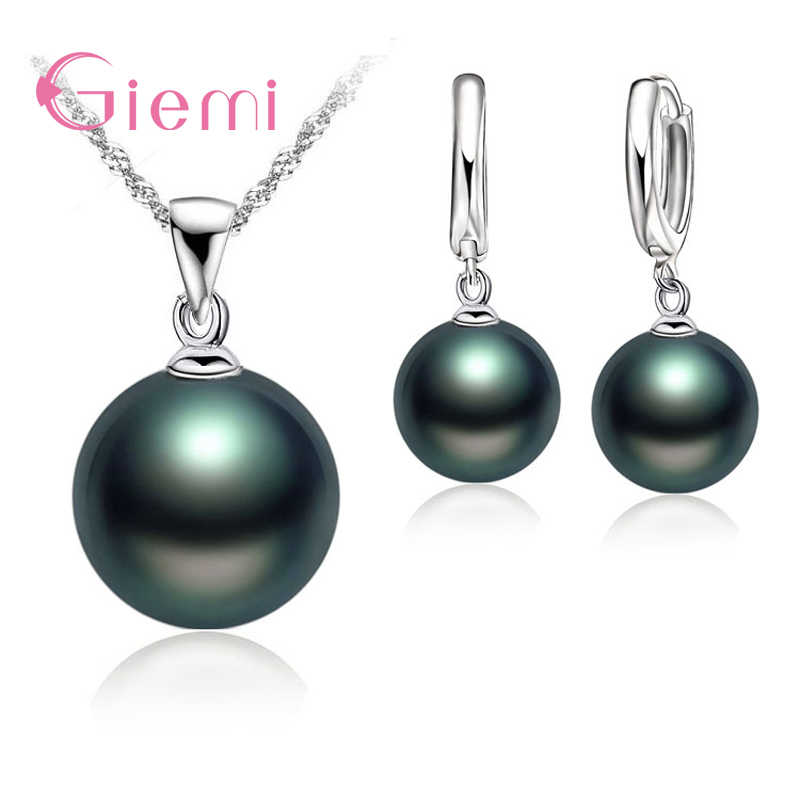 Elegant Noble Natrual Freshwater Pearl Necklace Rings Jewelry Set Real 925 Sterling Silver For Woman Mother Xmas Gifts