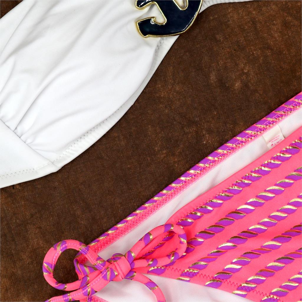 Biquini Bathing Suit Ornamental Brooch Secret maillot de bain Women Orange Heart-shaped Jewelry Bikini Set Swimwear Swimsuit 2