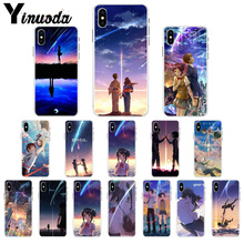 Yinuoda Kiminonawa Your Name Japanese anime Cute Phone Accessories Case for iPhone 7 7plusX XS MAX  6 6s 8 8Plus 5 5S SE XR