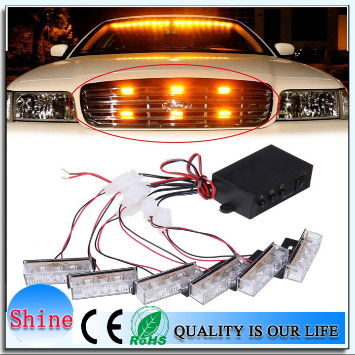 Car styling 6x3led dc 12v car led strobe lightbar mini lightbarred car styling 6x3led dc 12v car led strobe lightbar mini lightbarred and blue flash dash lightamber lightbaremergency lightbar in car light assembly from aloadofball Images