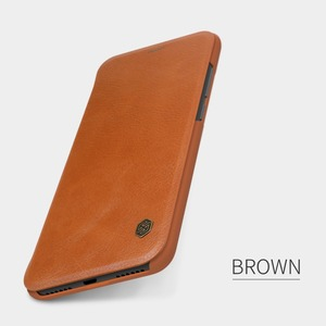 Image 2 - Xiaomi Redmi Hinweis 6 Pro Leder Fall NILLKIN Qin Serie Wallet Flip Abdeckung Fall Für Redmi Hinweis 6 Pro Echtem flip Leder Fall