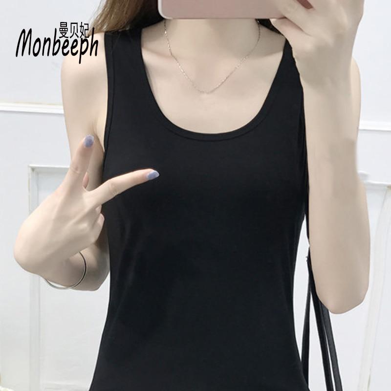 Monbeeph 2018 nuovo T-Shirt Delle Donne Della Maglia Top Senza Maniche Top Casual Carro Armato skinny camis