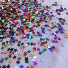 2000pcs Star Moon Multicolor Wedding Confetti Scatter Party Wedding Table Decoration birthday party Decorative Supplies metallic rose gold confetti wedding birthday happy birthday table decoration colorful star foil confetti party supplies