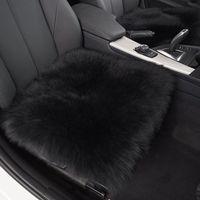 1 Piece Winter High Quality Long Genuine Wool Fur Sheepskin Black Car Seat Covers