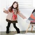 2015 recién llegado de niñas otoño del resorte chaqueta de piel de moda coreana chaqueta de lana calidad de las muchachas niños de la capa de ropa