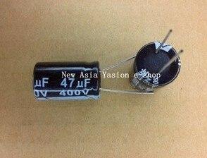 5 шт. 400V47UF 16*22 мм, 47(Европа) мкФ 400 V 16*22 электролитический конденсатор с алюминиевой крышкой