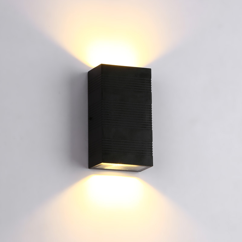 Modern Brief Square Wall Sconce Aluminum Waterproof Led ... on Modern Indoor Wall Sconce id=32809