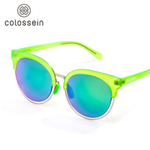 COLOSSEIN Sunglass Women Fashion Googles New Cat eye Unbreakable TR Frame With Polarized Mirror Lens Eye Protection