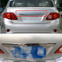 Chrome Rvs Auto Kofferbak Hatch Deksel Cover Trim Moulding Achterklep Moulding Trim Voor Toyota Corolla 2009-2010