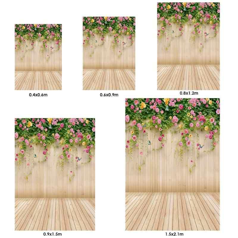 Tablones de madera flor telón de fondo para fotografía telón de fondo estudio foto de decoración estudio