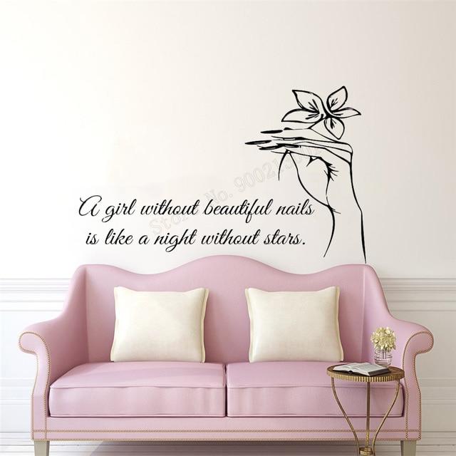 Art Salon Sticker Nails Room Decorative Quotes Wall Sticker ...