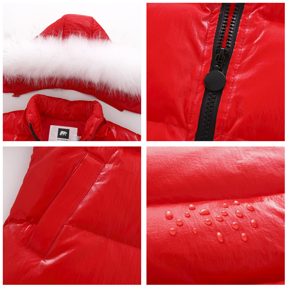 Image 2 - Orangemom brand jacket for girls coat 2 8 years Children's clothing for boys outerwear cute red snowsuit kids winter clothes-in Down & Parkas from Mother & Kids