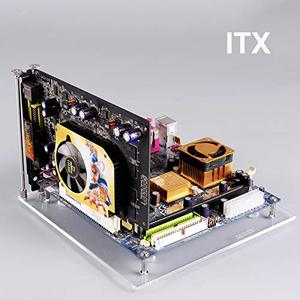 Image 4 - PC Open Frame Test Bench ITX  Mini ITX Motherboard Acrylic Overclock Computer Case DIY Mod Base Stand
