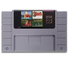 4 em 1 com Link para o Passado Secret of Mana Mundos Paralelos 16 pouco Cinzento Grande Jogador Do Jogo Consola de jogos Para OS EUA Versão NTSC Salvar Arquivo
