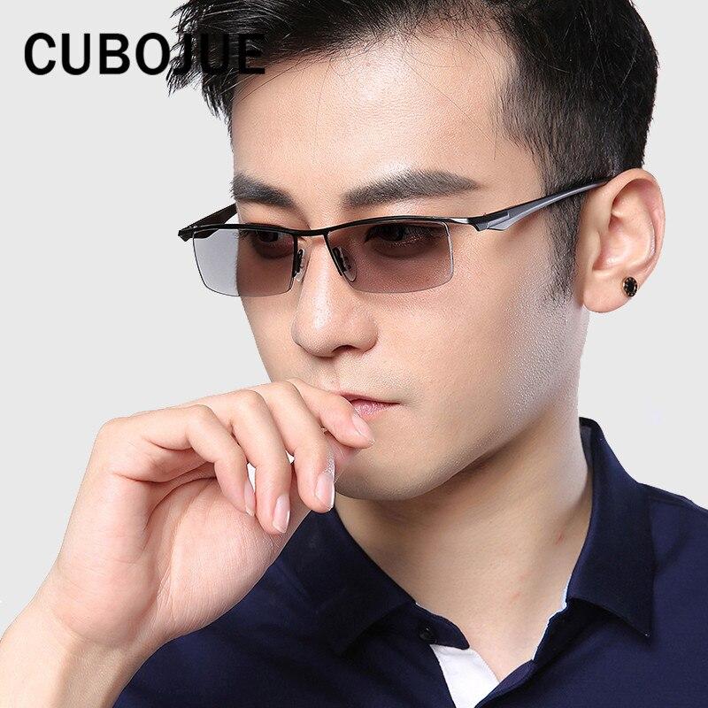 Cubojue мужские фотохромные Солнцезащитные очки для женщин (clear, темно-открытый) Хамелеон Очки для человека полу без оправы uv400 вождения близору...
