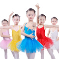 Enfant Ballerina Ballet Vestido Tutu Suspensórios Crianças Traje de Dança