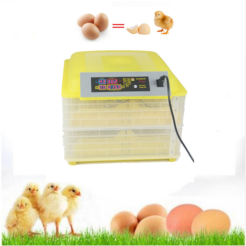 96 eggs automatic poultry incubator machine home commercial use chicken incubator equipment tool mini home use eggs incubators chicken digital eggs turner hatchers hatching tray machine equipment tool