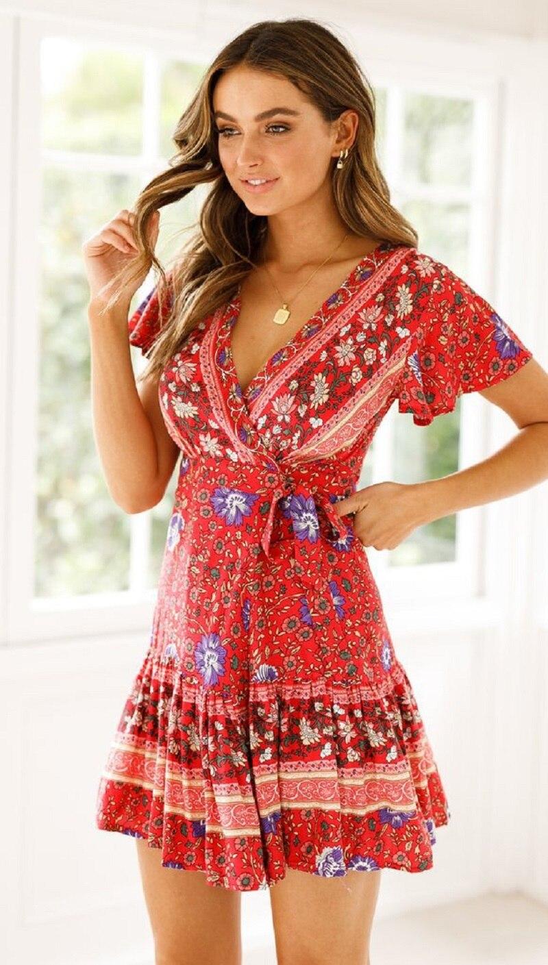 26 vieunsta vintage floral imprimir praia vestido de verão das mulheres novas com decote em v plissado uma linha de mini vestido elegante vestido plissado vestido de verão cinto - HTB1MH2TaNrvK1RjSszeq6yObFXa6 - VIEUNSTA Vintage Floral Imprimir Praia Vestido de Verão Das Mulheres Novas Com Decote Em V Plissado Uma Linha de Mini Vestido Elegante Vestido Plissado Vestido de Verão Cinto