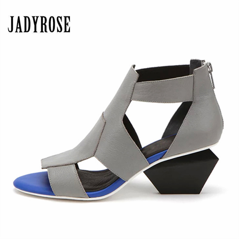 JADY ROSE Hollow Out Peep Toe Women Sandals 6CM High Heels Gladiator Sandal Sexy Women Pumps Dress Shoes Woman Wedges цена