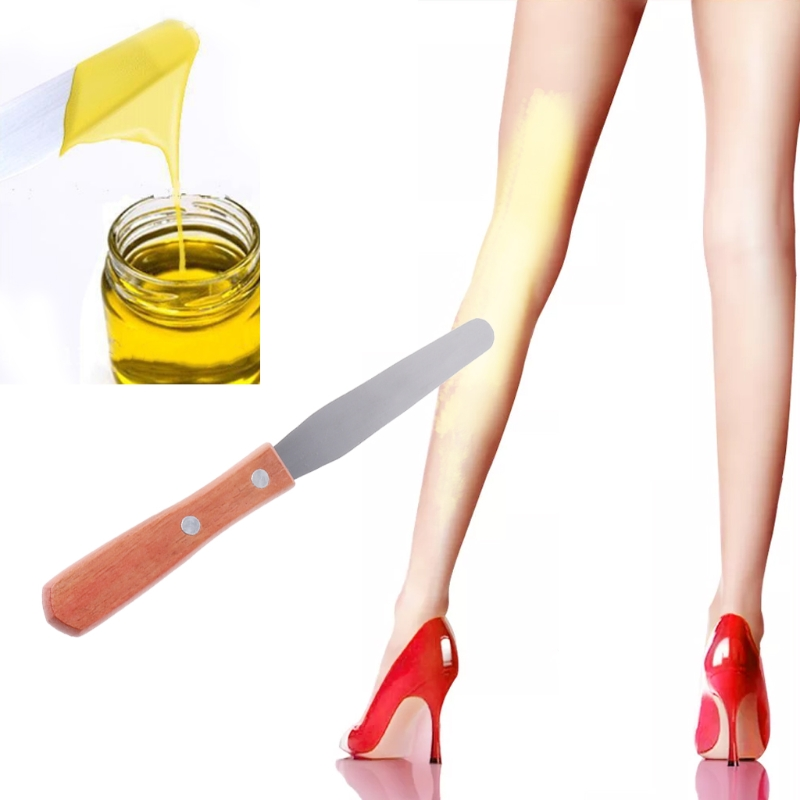 Stainless Steel Wax Waxing Body Epilator Hair Removal Stick Applicator Spatula