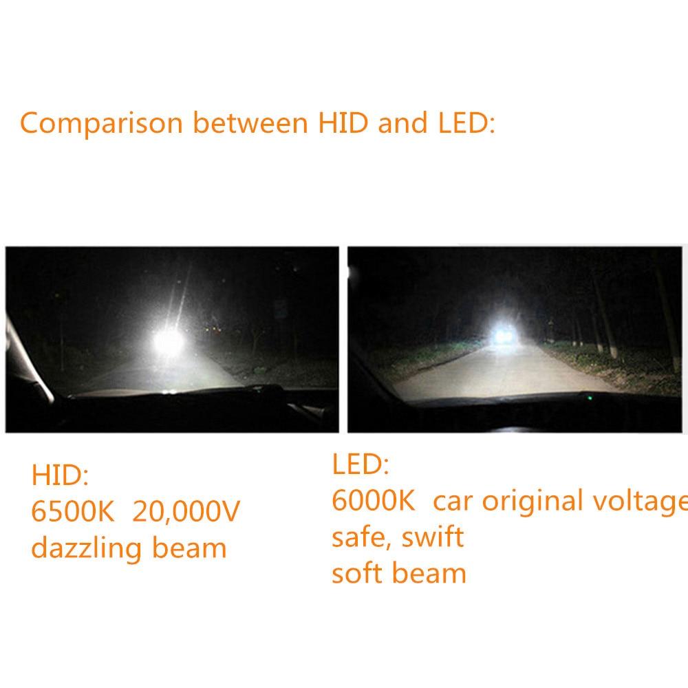 LED Avtomobil fənərləri 8000K 36W 12V H11 Avtomobil başlığı - Avtomobil işıqları - Fotoqrafiya 5