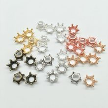 HOT fashion 12pcs 12*14mm Alloy tiny crown charms crown Pendant for Necklace Bracelet Earrings DIY Jewelry Findings A-80026(China)