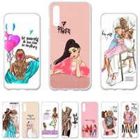 Baby Mom Girl Case For Samsung A50 Case Silicone Cover For Samsung Galaxy A50 A 50 2019 A70 A30 A20 A7 2018 Cases TPU Bags A750