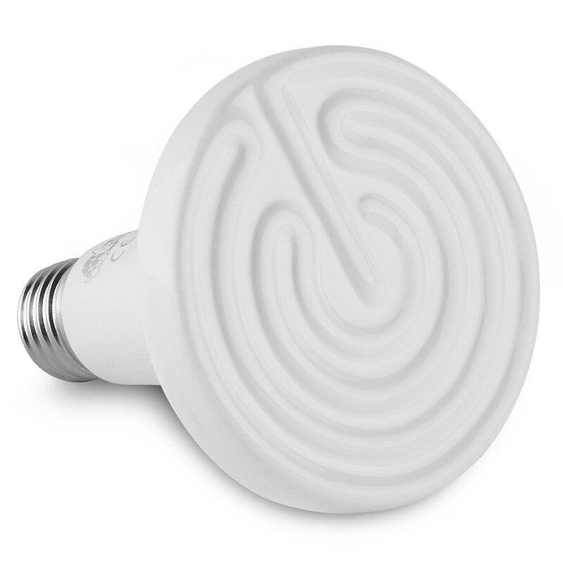 110V 150W E27 Ceramic Infrared Heater Lamp Bulb for Pet Coops & Brooders 220v 240v reptile aninal ceramic heater pet heating lamp 50w
