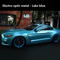 2pcs 50*150 Electro Coating Car Body Film Matte Purple Blue Metal Vinyl Car Wrap Stickers for Car Styling Rose Gold