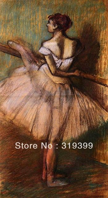 7b7a85ab56f4a US $83.94 15% OFF Oil Painting Reproduction on Linen Canvas,Dancer at the  Barre by edgar degas,Free DHL Shipping,handmade,Top Quality-in Painting &  ...