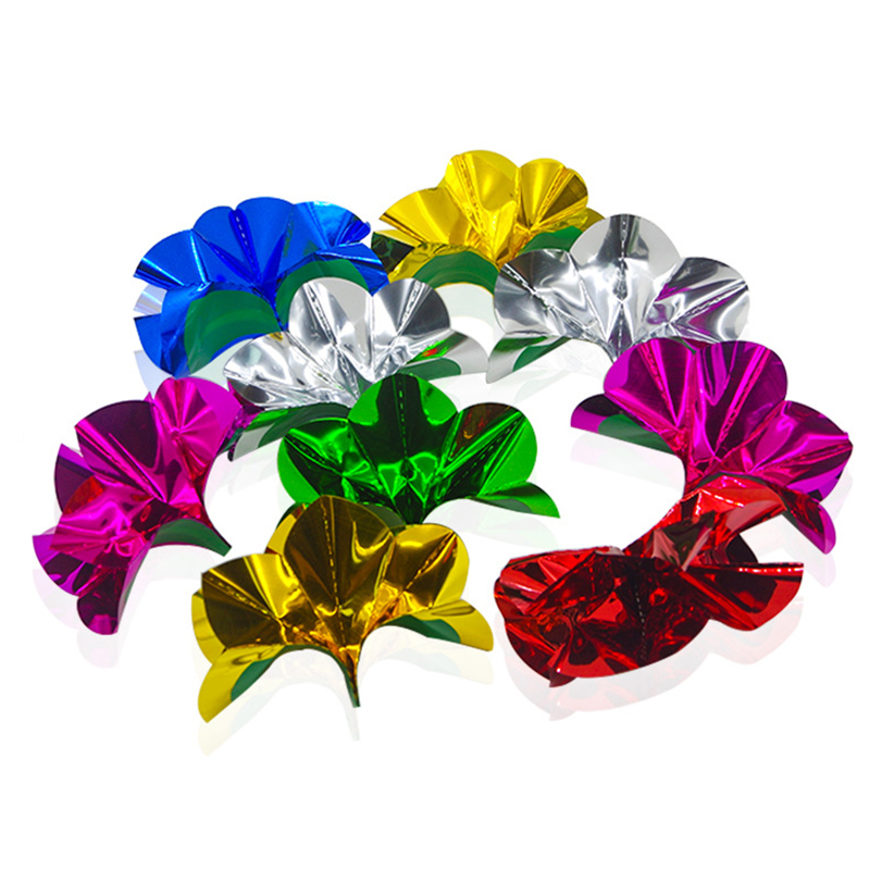 10 Pcs/Set  Flower From Empty Hand Magic Trick PVC Sequins Appearing Paper Flower Close Up Stage Magic Illusion Props