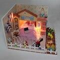 Handmade Doll House Furniture Miniatura Diy Doll Houses Miniature Dollhouse Wooden Toys For Children Birthday Gift Craft D025