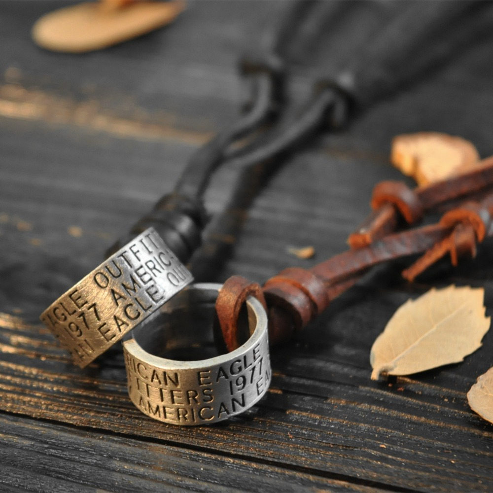 Male Genuine Leather Necklaces Vintage circles Punk Style Men Neckless Jewelery 2015 Colares Accessories