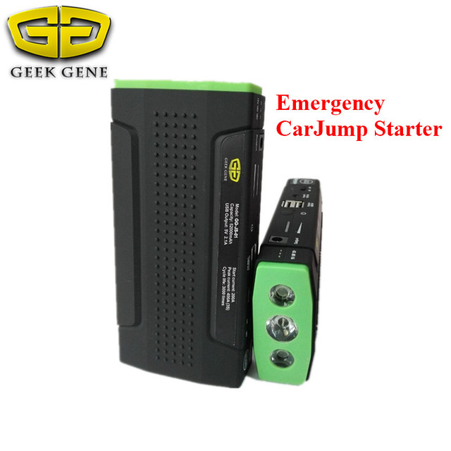 2017 New Arrival Car Jump Starter Booster 9900mAh For 12V Auto Car Emergency Power Supply Dual USB &Emergency Hammer