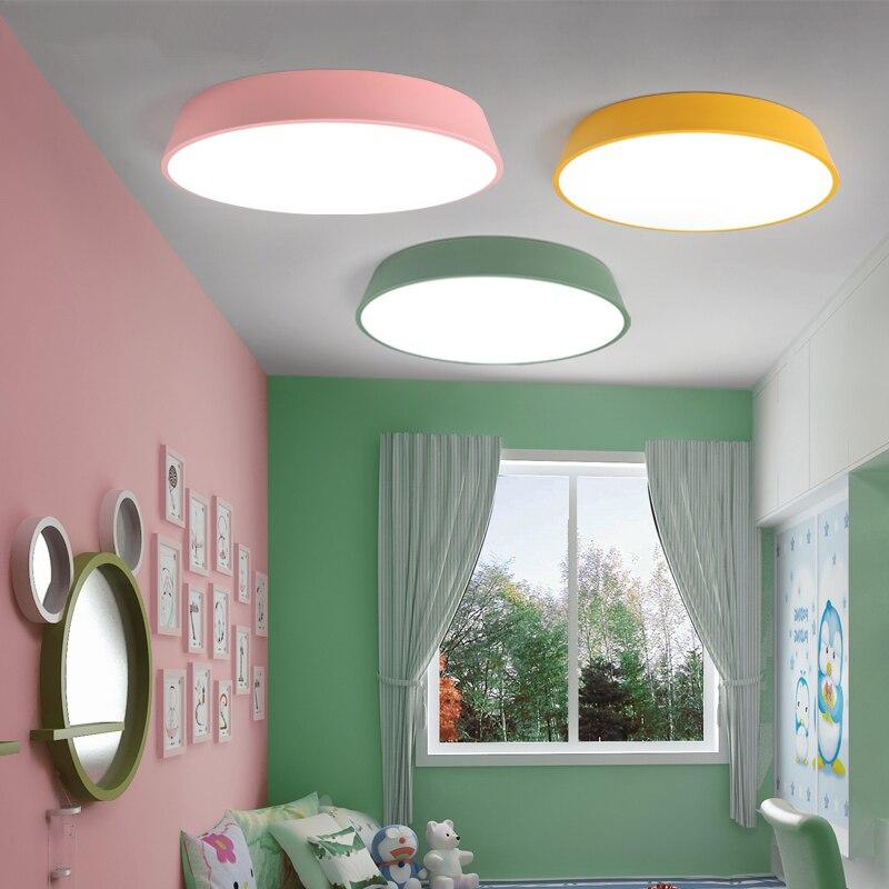 Nordic lighting Macaron LED Ceiling Lights Cartoon Round Modern bed Room Kids Room Balcony LED Bedroom Ceiling Lamp luminarias