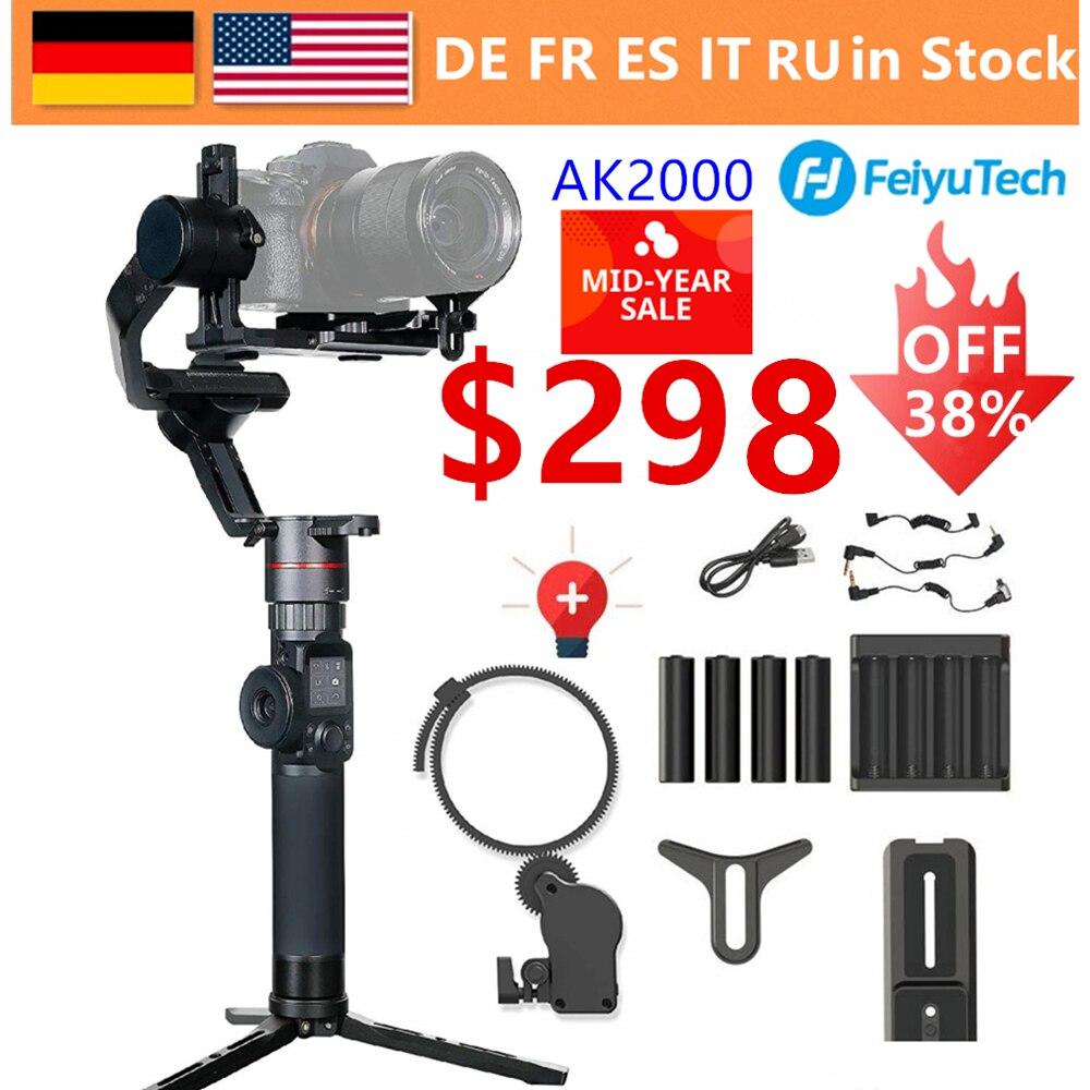 AK2000 3-Axis Camera Handheld Estabilizador Cardan FeiyuTech D850 MaxLoad 2.8 KG para Nikon Sony A9 A7III A7S A7R canon 5DIII 5 5DSR