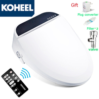 KOHEEL Smart Toilet Seat Washlet Elongated Electric Intelligent Bidet Cover Heat Sits Led Light Integrated Children