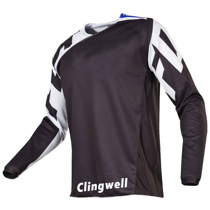 Clingwell Cycling Jersey Men Cycling Tops Summer DH MX RBX MTB Dirt Bike Clothing Long-sleeve Breathable Ropa De Ciclismo