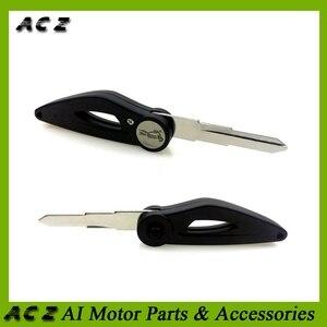 ACZ, hoja de llave en blanco sin cortar para motocicleta izquierda y derecha para Benelli BN251 BN302 TNT300 TNT600 STELS300 FLAME200 BN600 Keeway RK6