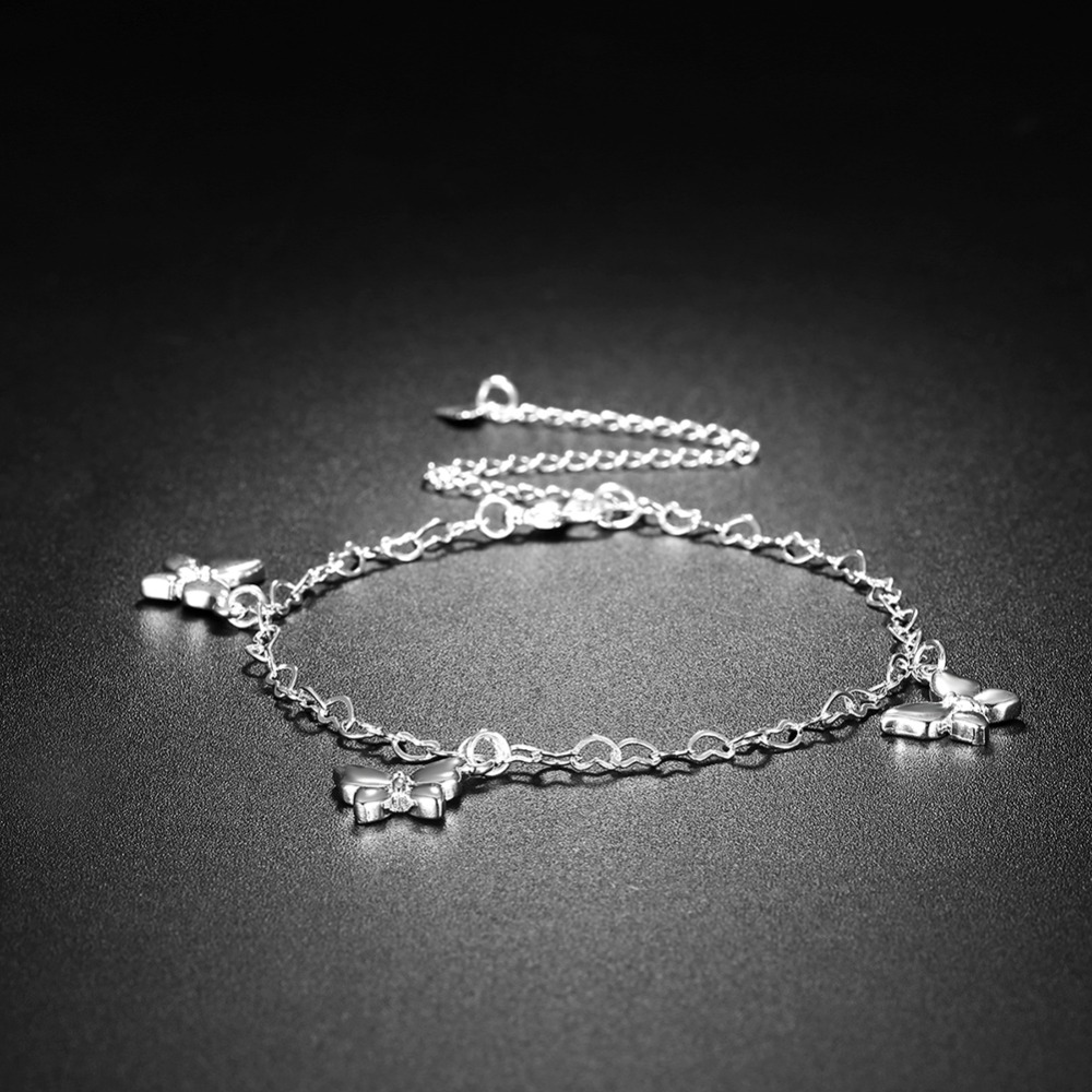 Damenmode Silber Strass Embedded Butterfly Charm Armband Schmuck Geschenk