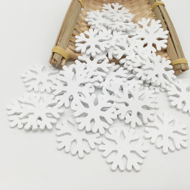 50pcs Lot Pure White Snowflake Style Wood Decorations Wall Hanging Wall Stick Store Market Bar Home Decorative Ornament 3x3cm Wood Diy Crafts Aliexpress