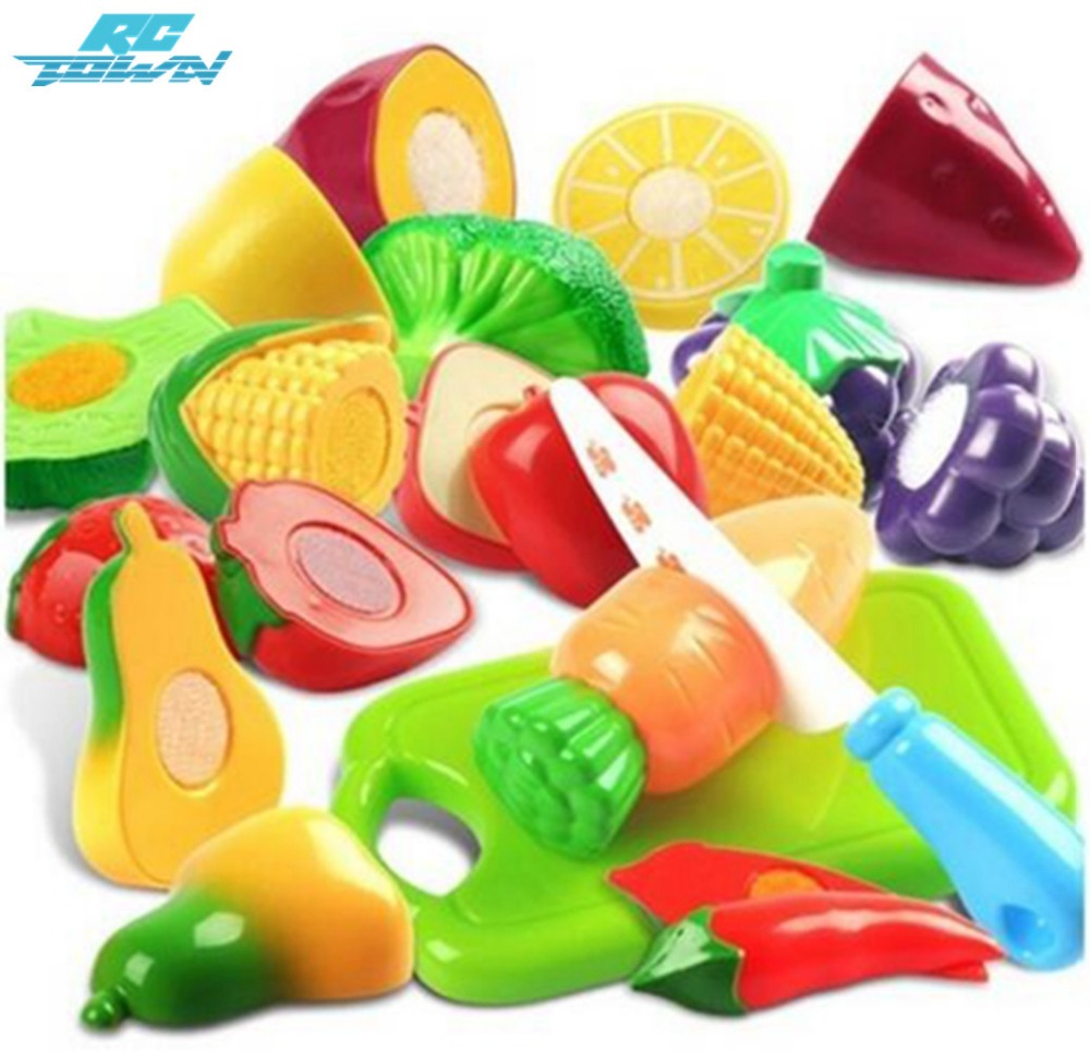 RCtown 12pcs Children Cutting Fruits Vegetables Set Puzzle Pretend Play Toys As Gifts Pretend Play Early Educational Toys