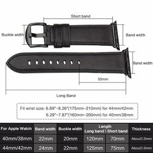 Image 3 - MAIKES Da Ban Nhạc Đồng Hồ Cho Của Apple Xem 44 mét 40 mét/42 mét 38 mét Loạt 4 3 2 1 strap watchbands Cho iWatch Của Apple Xem Dây Đeo