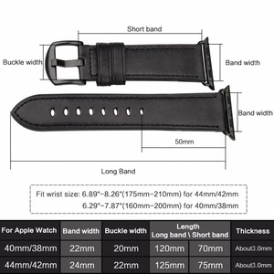 Image 3 - MAIKES Leather Watch Band For Apple Watch 44mm 40mm / 42mm 38mm Series 4 3 2 1 Watchbands For iWatch Apple Watch Strap