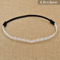 Fashion Hair Accessories White Diamante Little Flower Women Hair band Head Chain Jewelry Forehead Headband Piece