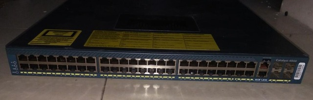 Оригинал WS-C4948-S, 48 Порт 10/100/1000 Гигабитный Коммутатор